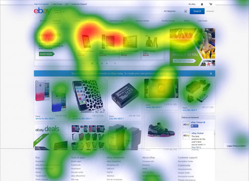 eCommerce website heat map